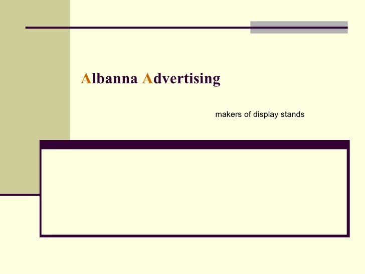 A lbanna   A dvertising makers of display stands