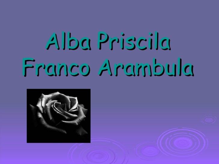 Alba Priscila Franco Arambula