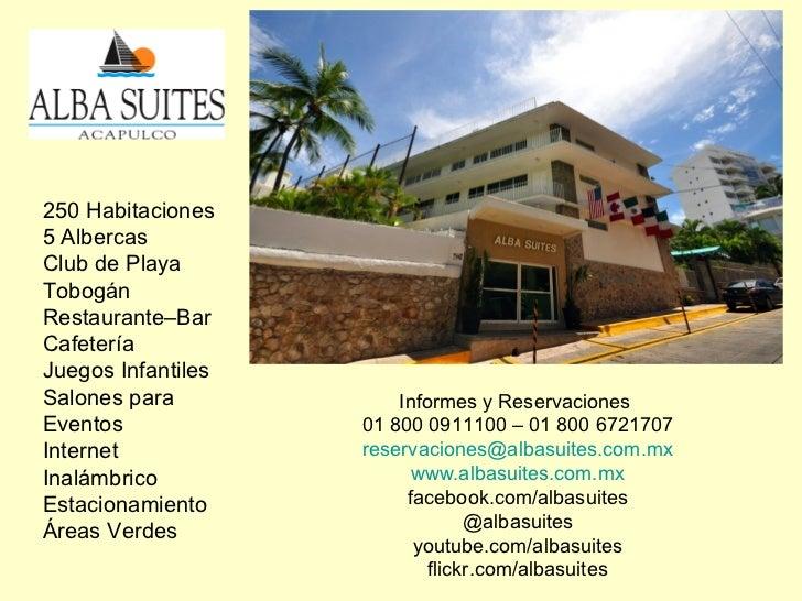 250 Habitaciones5 AlbercasClub de PlayaTobogánRestaurante–BarCafeteríaJuegos InfantilesSalones para            Informes y ...