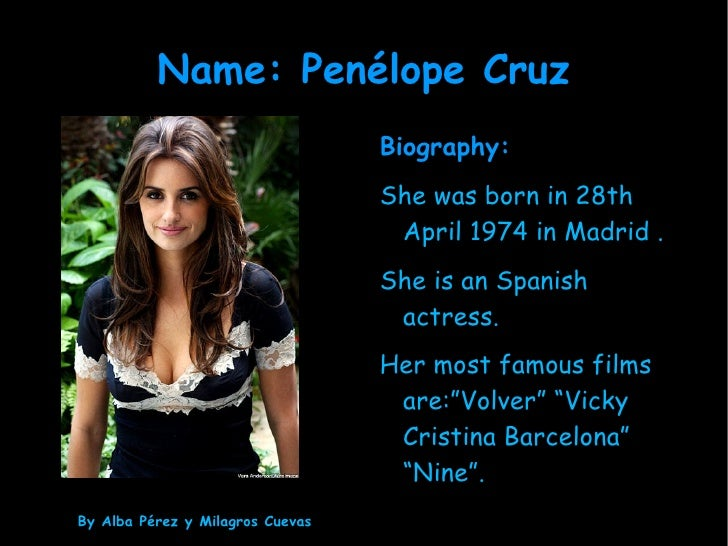 Famous People Presentation - Famous people from spain