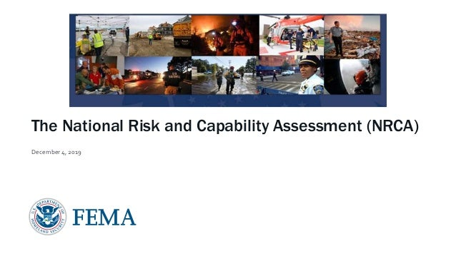 The National Risk and Capability Assessment (NRCA) December 4, 2019