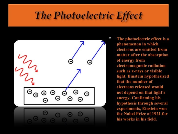 photoelectric effect and albert einstein essay The life of albert einstein essay albert einstein of all the he won the nobel prize for physics for his explanation of the photoelectric effect einstein is.