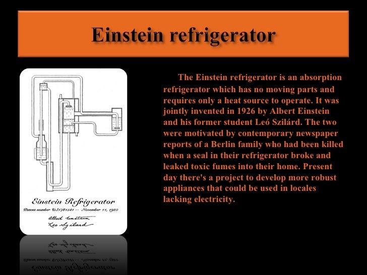 Albert Einstein Invention Of The Refrigerator | www ...