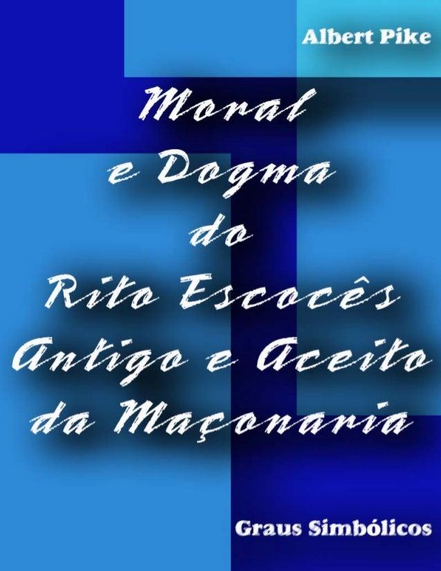 Albert Pike Moral e Dogma 1 Capa