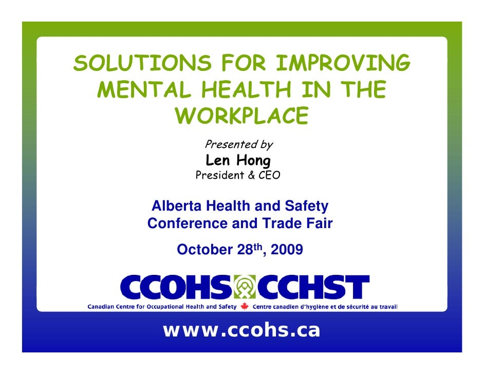 Solutions For Improving Mental Health In The Workplace