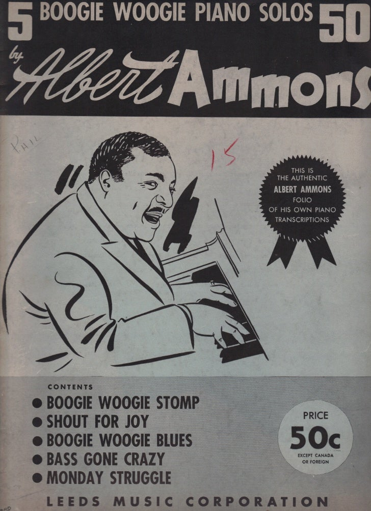 Albert Ammons   5 boogie woogie piano solos