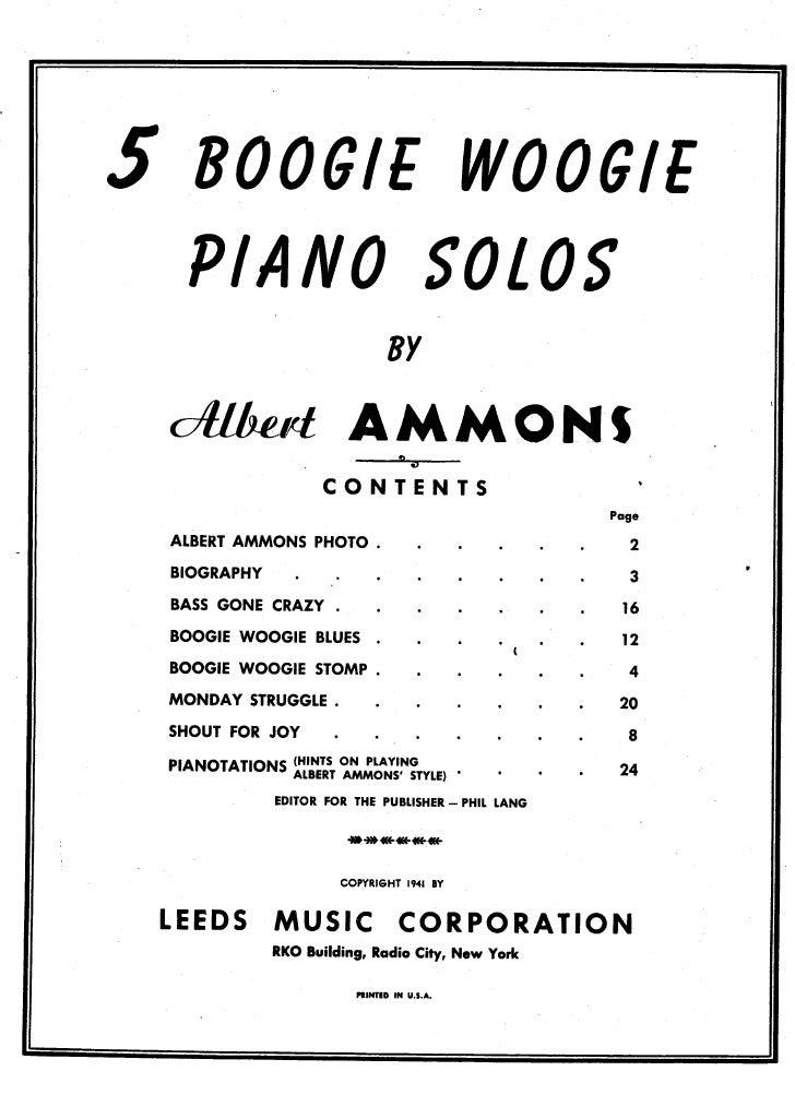 Albert Ammons   5 boogie woogie piano solos Slide 3