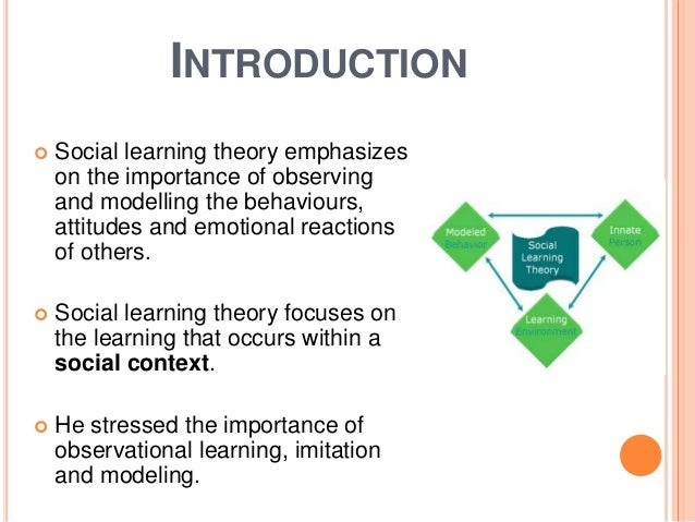 an analysis of the social learning theory in young adults Chapter 2: literature review  from strictly medical studies to the social and demographic implications of the study as well as to  (young adults), and because.