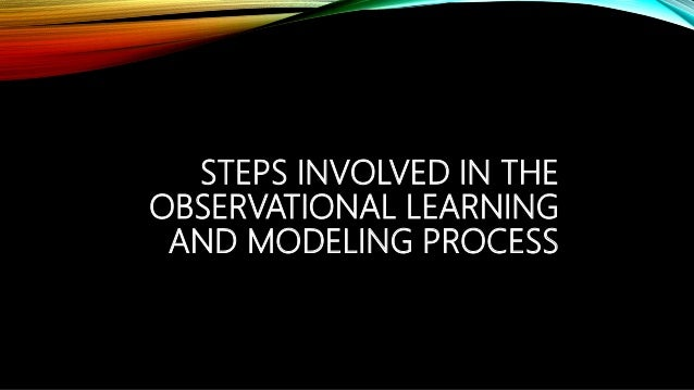 STEPS INVOLVED IN THE OBSERVATIONAL LEARNING AND MODELING PROCESS