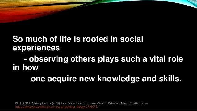 So much of life is rooted in social experiences - observing others plays such a vital role in how one acquire new knowledg...