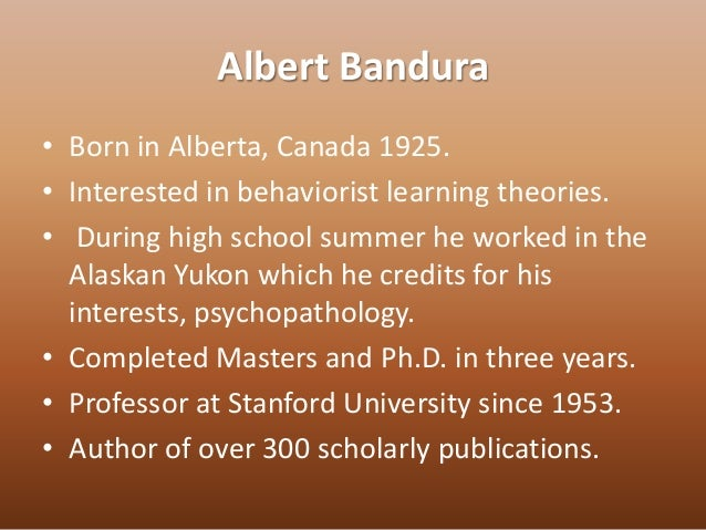 albert baduras concept of behaviorism Concept albert baduras concept of behaviorism of inhibitory responses in the central nervous behaviorism timeline.