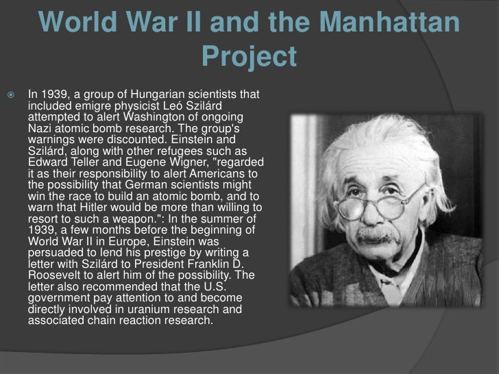 albert einstein manhattan project How albert einstein helped blackmail president roosevelt over manhattan albert einstein to creation of the manhattan project in.