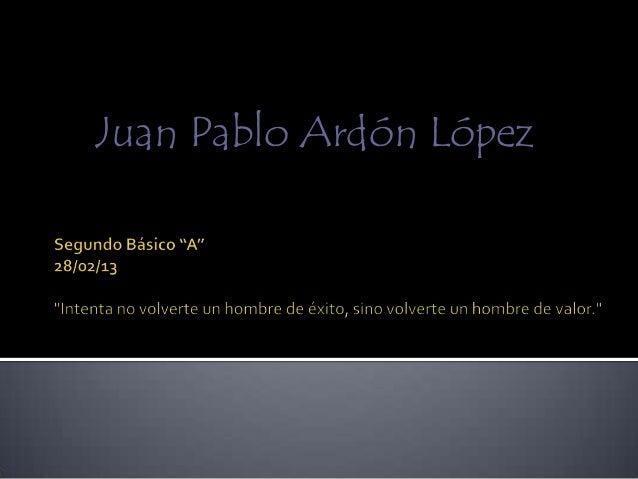 Juan Pablo Ardón López