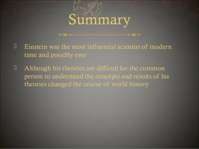 Albert einstein summary