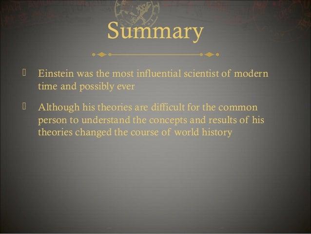 Albert einstein summary