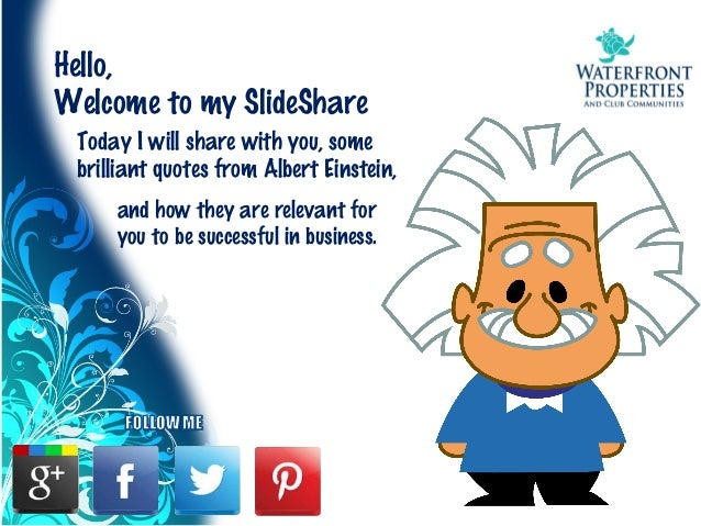10 Secrets to Success   You can learn from Albert Einstein Slide 3