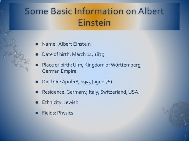 Albert einstein date of birth in Sydney