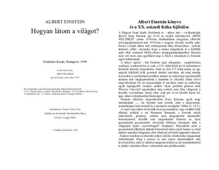 ALBERT EINSTEIN                                                                 Albert Einstein könyve                    ...