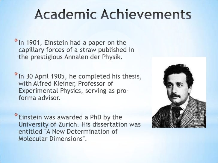 How did Einstein earn his PhD?