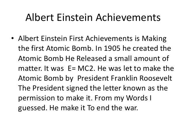 a biography and the achievements of albert einstein an influential scientist