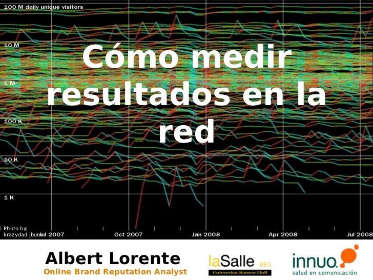 Cómo medir                 resultados en la                       red  Photo by krazydad jbum                     Albert L...