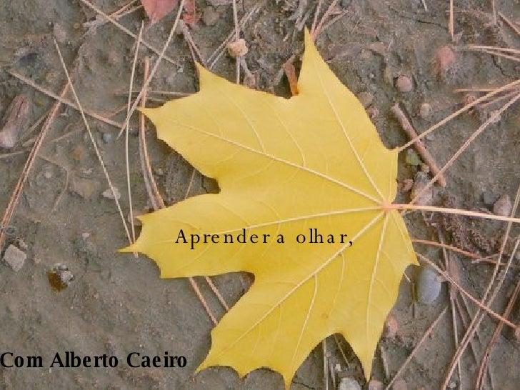 Aprender a olhar, Com Alberto Caeiro