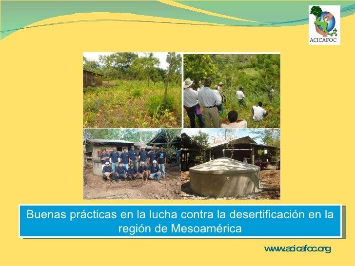www.acicafoc.org   Buenas prácticas en la lucha contra la desertificación en la región de Mesoamérica