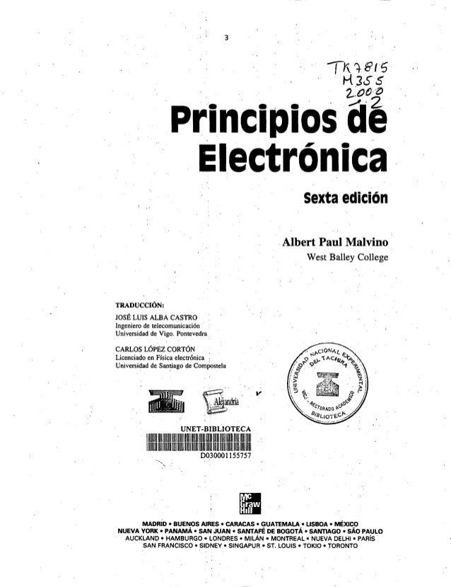principios de la electronica malvino