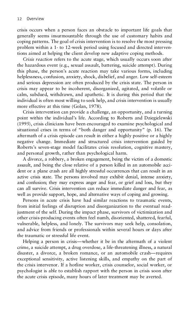 crisis intervention handbook by albert r roberts