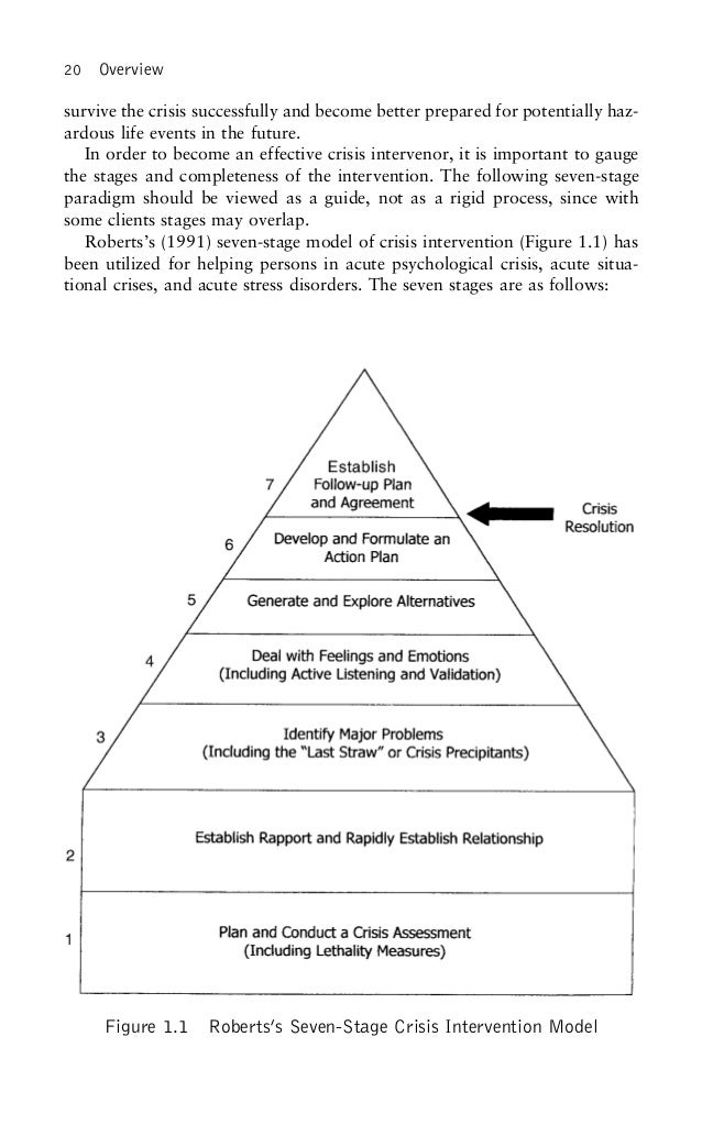 the seven stage crisis intervention model