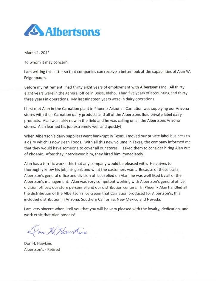 Letter Of Recommendation For A Vendor Sasolo Annafora Co