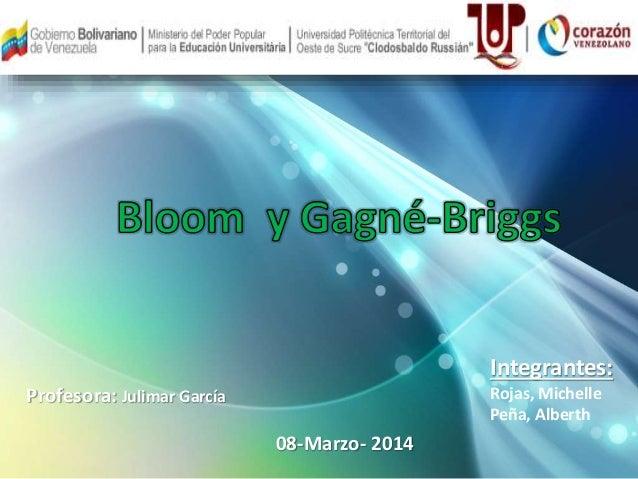 Profesora: Julimar García  08-Marzo- 2014  Integrantes:  Rojas, Michelle  Peña, Alberth