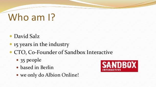 Albion Online - Software Architecture of an MMO (talk at Quo Vadis 2016, Berlin) Slide 2