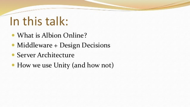 Albion Online - Software Architecture of an MMO (talk at Quo Vadis 2016, Berlin) Slide 3