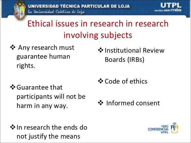 Research strategy and research ethics