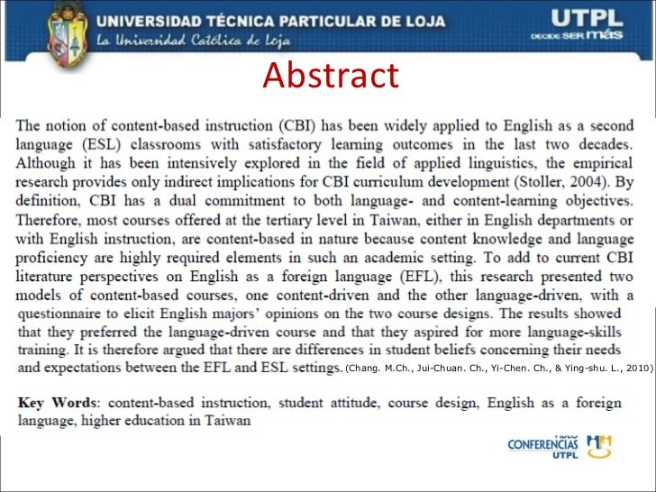 abstract on education