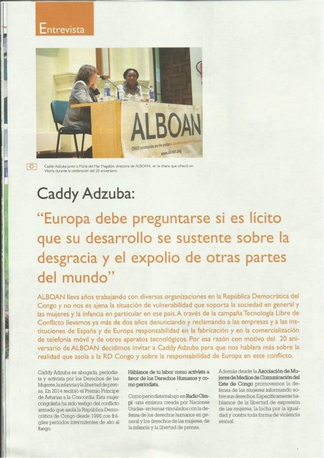 Caddy Adzuba: Entrevista