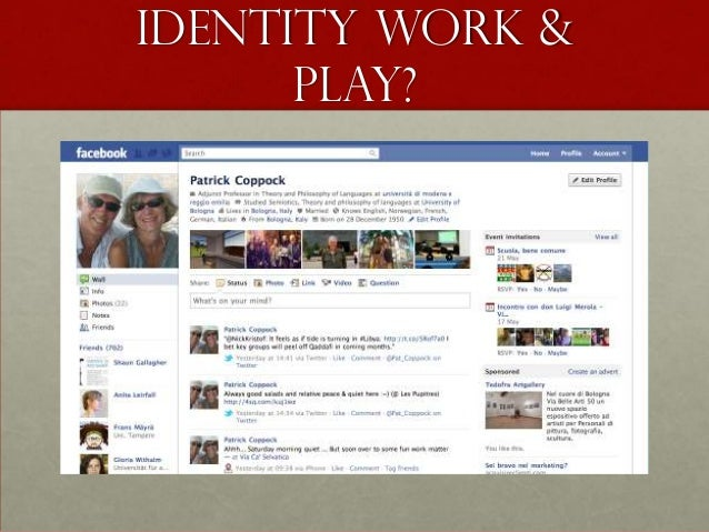 Identity Work &      PLAY?