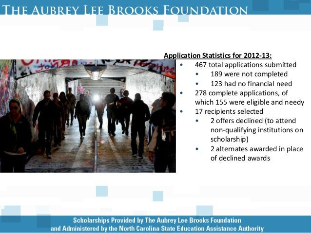 Aubrey Lee Brooks Scholarship (2012)