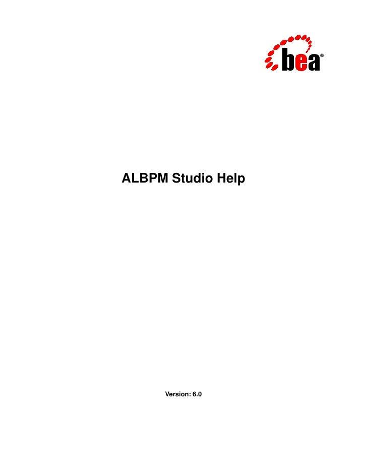ALBPM Studio Help     Version: 6.0