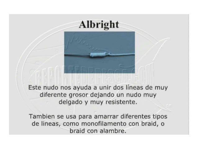 Nudo de pesca Albright