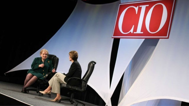 Abbie Lundberg interviewing Madeleine Albright at the first CIO Year Ahead conference Slide 1