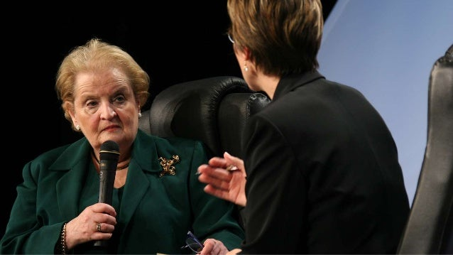 Abbie Lundberg interviewing Madeleine Albright at the first CIO Year Ahead conference Slide 2