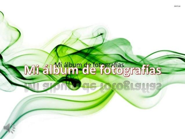 Mi álbum de fotografías