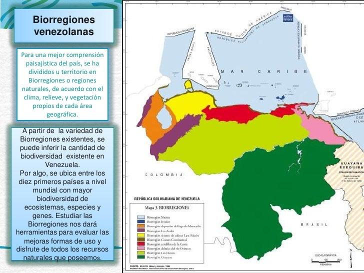 Resultado de imagen para las biorregiones de venezuela