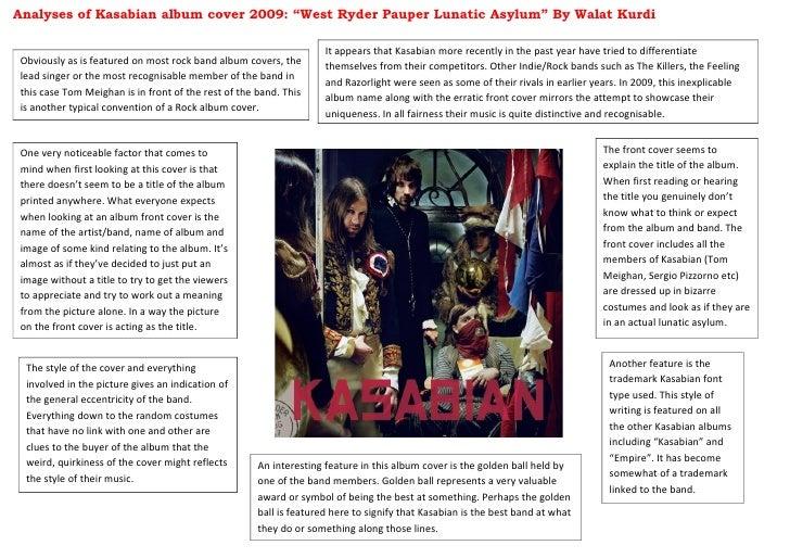 "Analyses of Kasabian album cover 2009: ""West Ryder Pauper Lunatic Asylum"" By Walat Kurdi                                  ..."