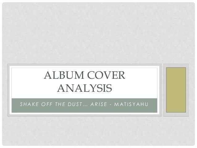 MATISYAHU ALBUM COVER ANALYSIS