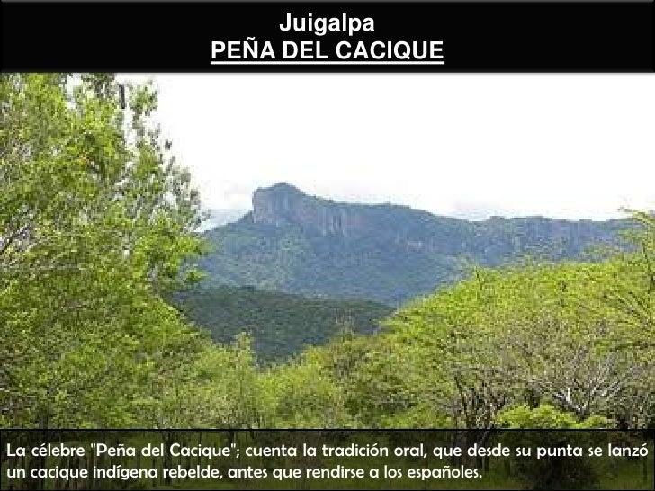 """Juigalpa                          PEÑA DEL CACIQUELa célebre """"Peña del Cacique""""; cuenta la tradición oral, que desde su pu..."""