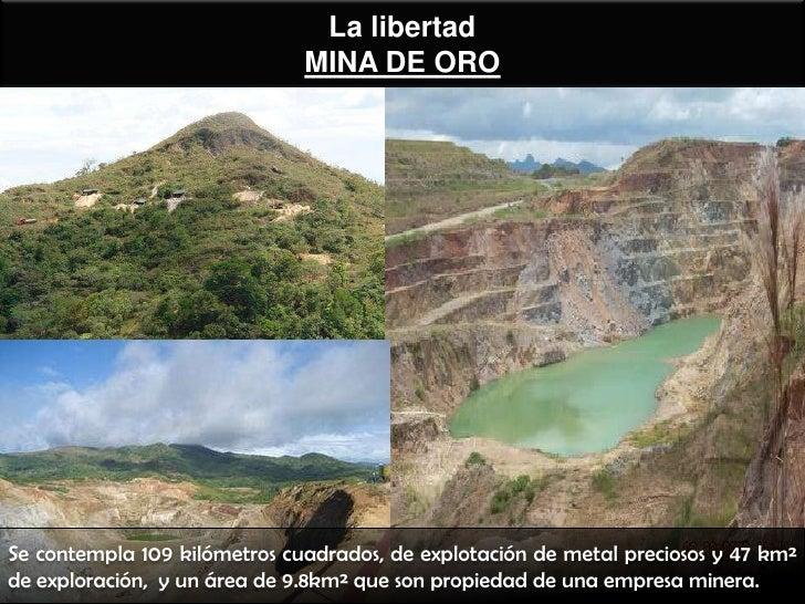 La libertad                              MINA DE OROSe contempla 109 kilómetros cuadrados, de explotación de metal precios...