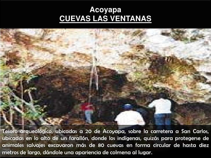 Acoyapa                      CUEVAS LAS VENTANASTesoro arqueológico, ubicadas a 20 de Acoyapa, sobre la carretera a San Ca...